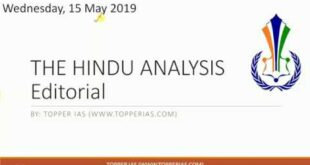 15 May 2019 The Hindu Editorial Analysis (Climate emergency, Demand draught)