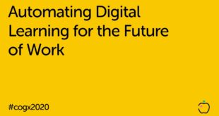 Automating Digital Learning for the Future of Work | CogX 2020