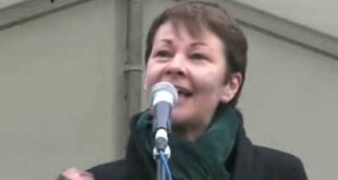 Caroline Lucas @ climate emergency rally 5 Dec 2009