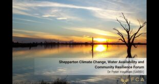 Dr Peter Hayman - Shepparton Climate Change, Water Availability and Community Resilience Forum