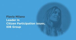 """Flavia Milano: """"Citizen participation is changing history"""""""