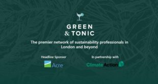 Green & Tonic - Urgency of the Climate Emergency - 10th September 2019