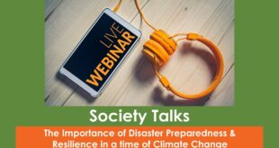 Society Talks 8 - The Importance of Disaster Preparedness in a time of Climate Change