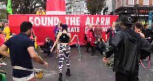 Sound the Alarm hoopers drum circle