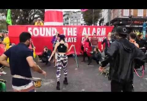 Sound the Alarm hoopers drum circle
